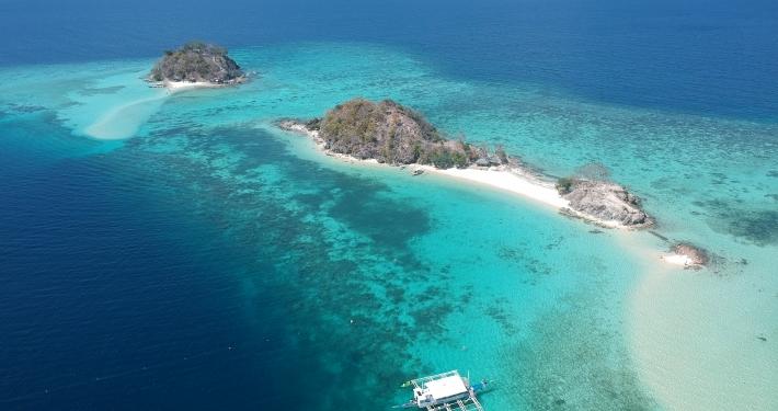 drone shot linacapan eiland